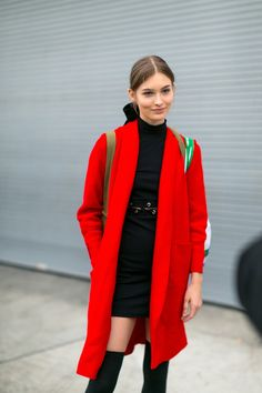 pretty red coat // w