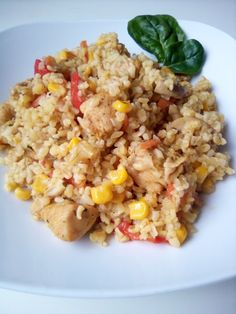 Slow Food, Fried Rice, Healthy Recipes, Healthy Food, Fries, Meat, Dinner, Ethnic Recipes, Healthy Foods