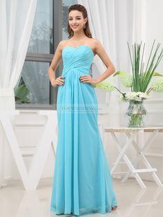 Strapless Draped Chiffon Bridesmaids Dress