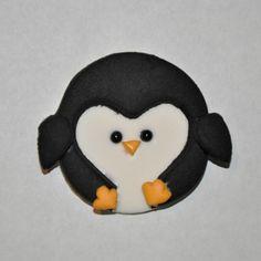 Penguin Fondant Cupcake Cake or Cookie by LadyCupcakesCorner, $16.95