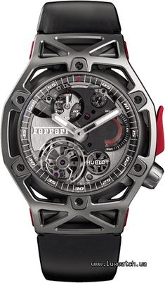 Мужские часы Hublot Techframe Techframe Ferrari Tourbillon Chronograph  408.NI.0123.RX обзор 88296f3be5bc8