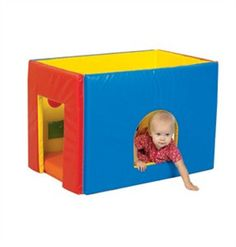 "Does your child get satisfaction out of sensory toys? Your little ones will love to crawl in and discover 6 different surprises in the Sensory Play House. Featuring a 9.5"" x 9.25"" sewn-in mirror, a sq"