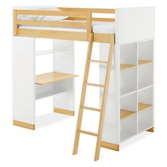 Room & Board - Moda Loft Bed with One End Desk and One Bookcase