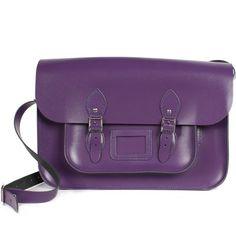Purple Leather Satchel @ www.brown-paper-packages.com.au