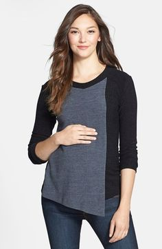Japanese Weekend Flap Maternity/Nursing Sweater available at #Nordstrom