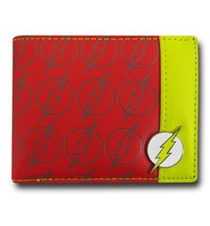 The Flash Wallet w/ Mini Badge is a great normal-sized wallet that has your normal compliment of pockets and..there is where it stops being normal! Featuring a bunch of the symbol for DC Comics' Fastest Man Alive and made from polyester/PVC, the Flash Wallet w/ Mini Badge even has that very same symbol forged in middle and nestled there in the corner. Nice and fancy, isn't it?