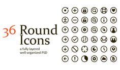 PSD Freebie: 36 free PSD round icons
