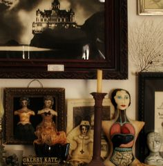 Mantel with dolls and other curiosities