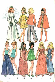 Sewing Clothes Patterns Vintage McCall's 3429 Sewing Pattern, Barbie Clothes, Doll Clothes, Doll Wardrobe, Teen Doll F - Barbie Sewing Patterns, Mccalls Patterns, Vintage Sewing Patterns, Doll Patterns, Clothing Patterns, Sewing Doll Clothes, Sewing Dolls, Free Barbie, Doll Wardrobe