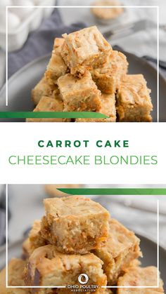 Combine favorite carrot cake flavors with creamy homemade cheesecake to make irresistibly delicious Carrot Cake Cheesecake Blondies!