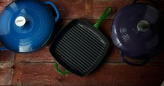Enameled cast iron skillets - Lodge until Le Creuset