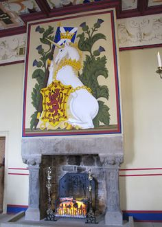 Unicorn tapestry in Stirling Castle, Scotland.  This is Karen Henry's blog about her trip to Scotland.  Great info if you are a Diana Gabaldon fan :)