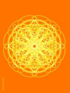 "°Sacral, Swadhisthana Chakra - Sacred Geometry Art by PearlWhitecrow. I Explore: ""I am radiant, beautiful & strong & I enjoy a healthy & passionate life"""