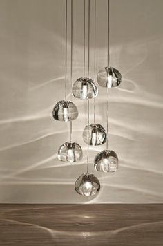 ball chandeliers Picture - More Detailed Picture about Modern clear/gold crystal glass sphere ball chandelier mizu 3 5 7 15 pendant lamp ceiling lamp round stainless steel base Picture in Pendant Lights from shustar juxing lighting Store Pendant Chandelier, Crystal Pendant, Chandelier Lighting, Chandelier Creative, Crystal Ball, Italian Lighting, Modern Lighting, Lighting Design, Stair Lighting