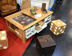Diy Coffee Table With Pullouts All The Games Diy Coffee Table