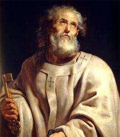 SAN PEDRO (finales del siglo I a.C.- 67 d.C.) , Apóstol de Jesucristo y primer jefe de su Iglesia. Era un pescador del mar de Galilea, hasta que dejó su casa de Cafarnaúm para unirse a los discípulos de Jesús en los primeros momentos de su predicación