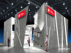 Exhibition stand Lighting Technologies by Nick Sochilin, via Behance
