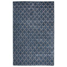 Found it at Wayfair - Baroque Hand-Tufted Blue Area Rug