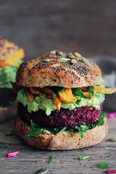 The ULTIMATE Baked Veggie Burgers Recipe via The Awesome Green