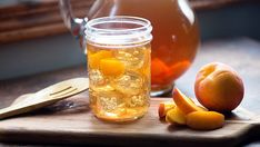 A pitcher of this sweet tea spiked with peach liqueur and Riesling wine is the perfect summer staple!