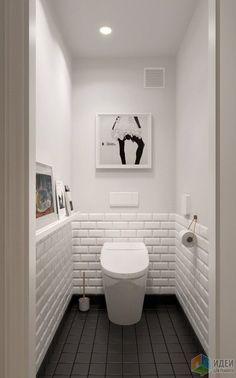 Scandinavian bathroom design ideas with white shades that you . - Scandinavian bathroom design ideas with white shades that you - Small White Bathrooms, Small Bathroom, Scandinavian Bathroom Design Ideas, Bathrooms Remodel, Trendy Bathroom, Small Toilet Room, Toilet Design, Painting Bathroom, White Bathroom