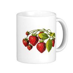Fresh Strawberries Coffee Mugs