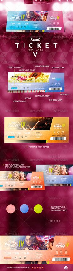 Event Ticket Template PSD. Download here…