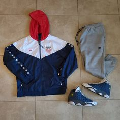 "Michael Jordan Patrick on Instagram: ""Damn Im mega late!!!! Oh well Todays fit: 🧥 #usa #womenssoccer 🩳 #Nike Tech fleece 👟 Air Jordan 13 Flint ⭐Brand New YouTube Video…"""