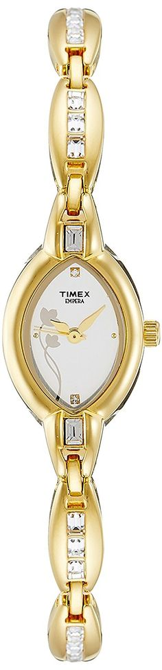 Timex Women's Empera Analog Dial Watch Silver -- You can find out more details at the link of the image. Amazing Watches, Beautiful Watches, Timex Watches, Ankle Bracelets, Luxury Watches, Bracelet Watch, White Gold, Trust, Silver