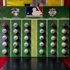 Mlb Standings Gift Baseball Decor Make For The Guys