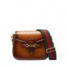 8c5e09e96730 Gucci Lady Web brown leather shoulder bag 380573 B012A 2574  Guccihandbags  Purses And Bags