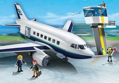Playmobil Cargo and Passenger Aircraft - Get your boarding passes ready!  Load the cargo into the airplane, get your passengers seated, and let the pilot & co-pilot take off. It comes with 5 people, cargo, control tower, and other accessories.  Who's ready to go?