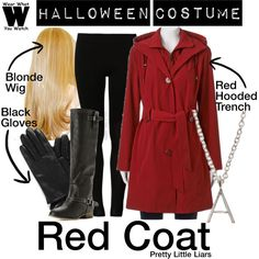A Halloween Costume how-to inspired by the infamous Red Coat on Pretty Little Liars.