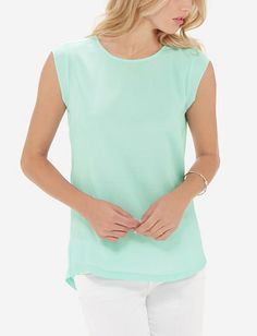 Woven Front Top from TheLimited.com