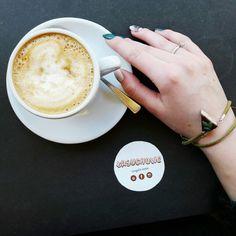 Coffee and cake. Fimo jewelry.