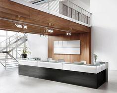 Banco reception elegante e raffinato concepito per non passare inosservato.
