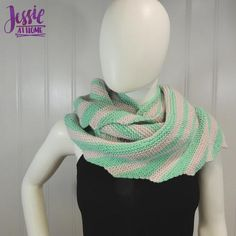 Stripes and Steps is a long, thin wraplet that uses short rows to make it slightly curved with wedged stripes. It is made in garter stitch. Infinity Scarf Knitting Pattern, Knitting Patterns Free, Knit Patterns, Free Knitting, Knitted Shawls, Crochet Shawl, Knitted Scarves, Ladder Stitch, Purl Stitch
