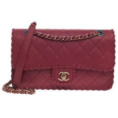 Pre-Owned Chanel Whipstitch Flap Quilted Velvet Calfskin Medium