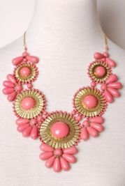 pink statement necklace
