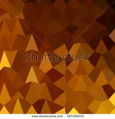 Low polygon style illustration of burnt umber brown abstract geometric background.