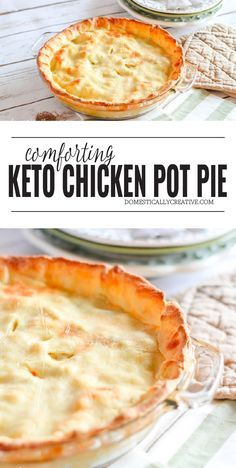 Keto Chicken Pot Pie Recipe - Keto Recipes - Ideas of Keto Recipes - This Keto Chicken Pot Pie has all the flavor of the classic but with only 7 net carbs per serving it doesnt pack the carb loaded punch. Ketogenic Recipes, Low Carb Recipes, Cooking Recipes, Cheese Recipes, Diet Recipes, Cake Recipes, Slimfast Recipes, Steak Recipes, Sweets