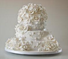 Gardenia Rose wedding cake