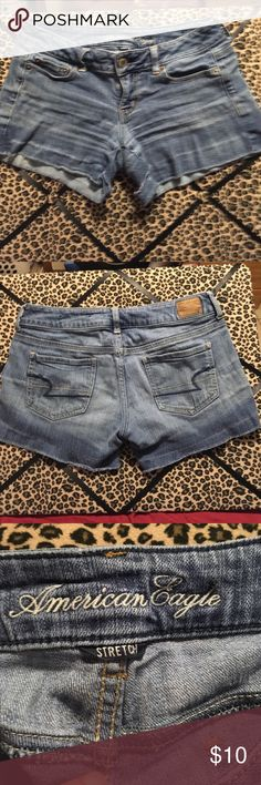 American Eagle jean shorts size 2 American Eagle jeans shorts size to no stains from a non-smoking home American Eagle Outfitters Shorts Jean Shorts