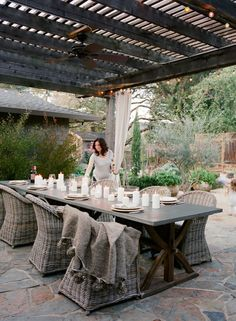 Candlelit outdoor party: http://www.stylemepretty.com/living/2015/06/19/30-outdoor-spaces-we-want-to-spend-all-summer-in/