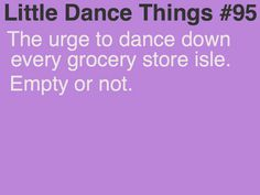 Dancing in the grocery aisles