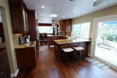 Nice sized kitchen island - Kitchen Remodel with custom Cabinets in Fountain Valley