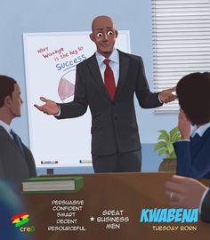 Kwabena - Tuesday Born - Ghana Celebrating all the Tuesday Borns Sexy Black Art, Black Girl Art, Black Women Art, Black Is Beautiful, Black Cartoon, Cartoon Pics, Cartoon Art, Ghanaian Names, Ghana Art