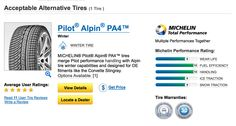 Michelin Man 'Tire selection screen': Performance rating + Detail + Warrenties + Reviews - http://www.michelinman.com/tire-selector/vehicle/2014/Audi/A5%20Quattro/Cabriolet/255|35ZR19|XL%2096Y2/winter-tires
