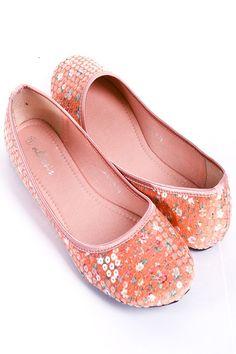 Pink Sequin Flats $9.99
