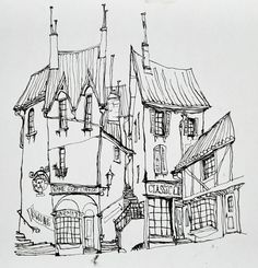 Animation Art:Production Drawing, The Boxtrolls Cheesebridge Concept Sketch Original Art(LAIKA, 2014).... (Total: 3 ) Image #1